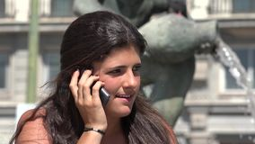 Angry Woman Argument On Phone stock footage