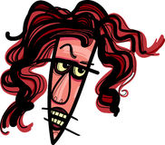 Angry woman caricature Royalty Free Stock Photography