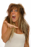 Angry woman Stock Image