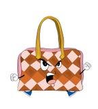 Angry woman handbag cartoon Stock Image