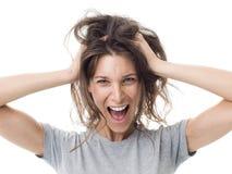 Free Angry Woman Having A Bad Hair Day Royalty Free Stock Photo - 99620655