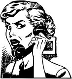 Angry Woman On Phone Royalty Free Stock Photo