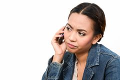 Angry Woman On Phone Royalty Free Stock Photos