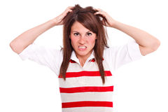 Angry woman Stock Photography