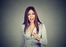 Free Angry Woman Pointing At Camera Royalty Free Stock Images - 83456029