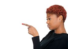 Angry woman pointing Royalty Free Stock Photo