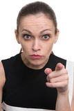 Angry woman pointing at you Royalty Free Stock Images