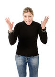 Angry woman Stock Images