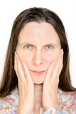 Angry Woman Portrait Royalty Free Stock Photography