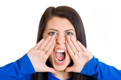Angry woman screaming Royalty Free Stock Image