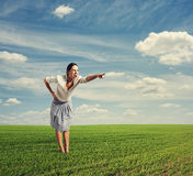 Angry woman screaming Royalty Free Stock Images