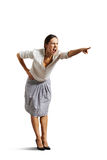 Angry woman screaming and pointing Royalty Free Stock Images