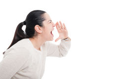 Angry woman screaming with rage Royalty Free Stock Image