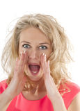 Angry woman shouting Royalty Free Stock Photo