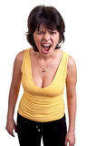 Angry woman shouting isolated on white background Stock Photography