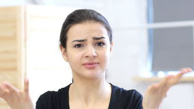 Angry woman, unhappy. 4k  high quality stock video