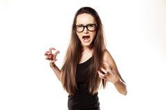 Angry woman stock image