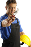 Angry worker Stock Photography