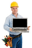 Angry Worker with Message Stock Image