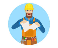 Angry Worker tearing paper Royalty Free Stock Image