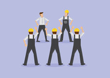 Angry Workers on Strike Vector Illustration Stock Photos