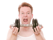 Angry workout Royalty Free Stock Photos