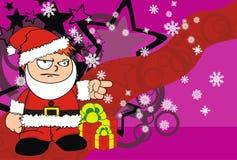 Angry Xmas santa kid cartoon expression background Royalty Free Stock Photos