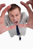 Angry yelling businessman Stock Photography