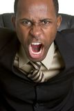 Angry Yelling Businessman Royalty Free Stock Photography