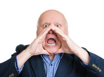 Angry yelling Royalty Free Stock Image