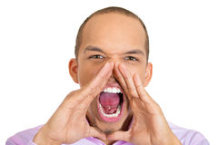 Angry yelling man Stock Image