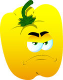 Angry yellow bell pepper Stock Photos