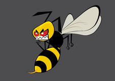 Angry yellow hornet. Mad yellow hornet graphic illustration royalty free illustration