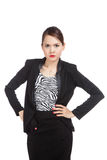 Angry young Asian business woman Royalty Free Stock Image