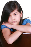 Angry young asian girl Royalty Free Stock Photography