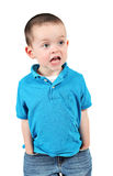 Angry young boy Stock Images