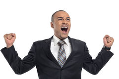 Angry young businessman Stock Photography