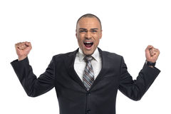Angry young businessman Royalty Free Stock Photo