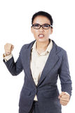 Angry young businesswoman Royalty Free Stock Image