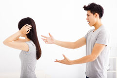Angry young couple arguing Royalty Free Stock Photography
