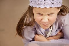 Angry young girl Royalty Free Stock Photos