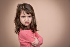 Angry young girl Stock Images