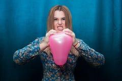 Angry young girl stock image