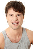 Angry young man Stock Photography