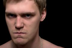 Angry young man royalty free stock photos