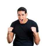 Angry young man Stock Image