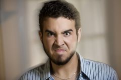 Angry Young Man with Motion Effect Royalty Free Stock Image