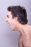 Angry young man screaming Royalty Free Stock Photos