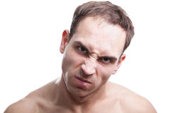 Angry young man royalty free stock photography