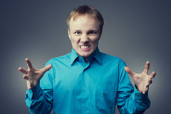 Angry young man Royalty Free Stock Images